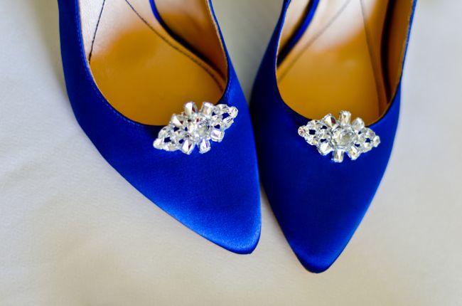 zapatos de boda azules