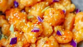 La mejor receta de camarones de Bang Bang