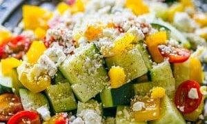 Ensalada Griega De Verduras De Jardín