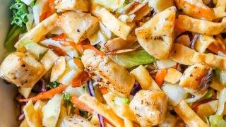 La mejor receta de ensalada de pollo chino picado