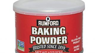 Rumford Baking Powder, NON-GMO, Gluten Free, Vegan, Vegetarian, Polvo bicarbonato de doble efecto en una lata sellable con tapa Easy Measure, Kosher, Halal