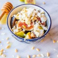 Ensalada de frutas de higo y miel