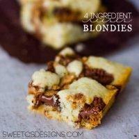 4 Ingredientes Reeses Blondies