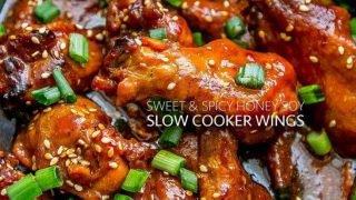 Alitas de pollo de cocción lenta y miel de soya