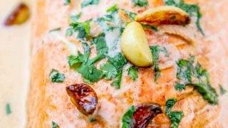 Receta de salmón glaseado con whisky irlandés One Pot