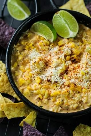 Dip de maíz mexicano