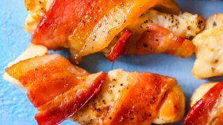 Las mejores picaduras de pollo envuelto en tocino
