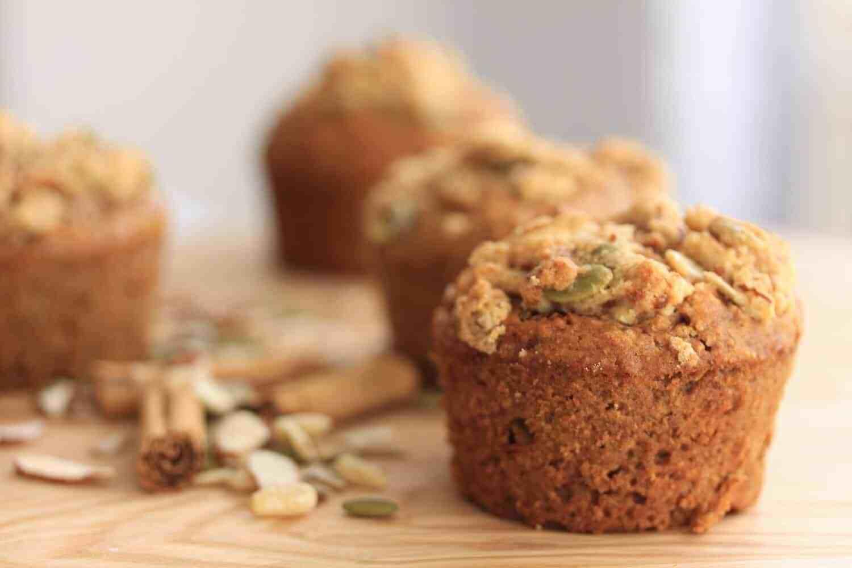 Muffins saludables de canela y nueces   Magia de sal de azúcar