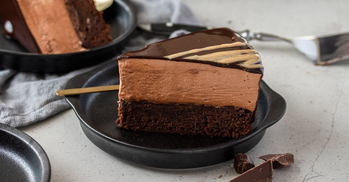 Pastel de barro con mousse de chocolate | Magia de sal de azúcar
