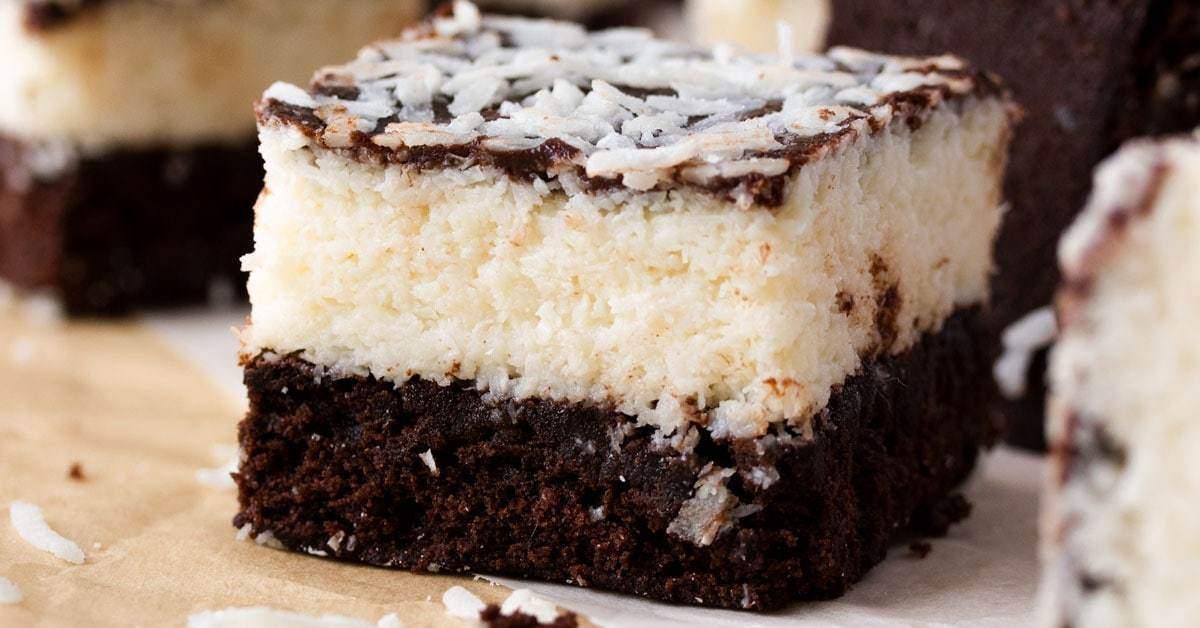 Receta de brownies de chocolate y coco | Magia de sal de azúcar