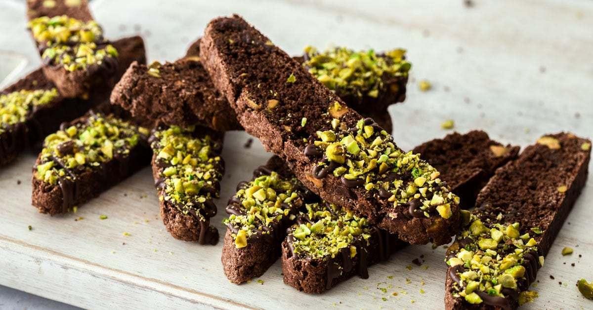 Biscotti de pistacho y chocolate | Magia de sal de azúcar