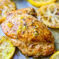 Receta One Pot Lemon Garlic Butter Chicken Muslos