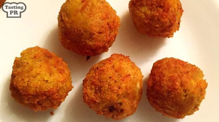 Twice Fried Stuffed Mofongo Balls