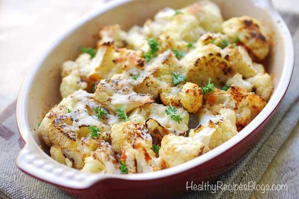 Keto Parmesan Roasted Cauliflower