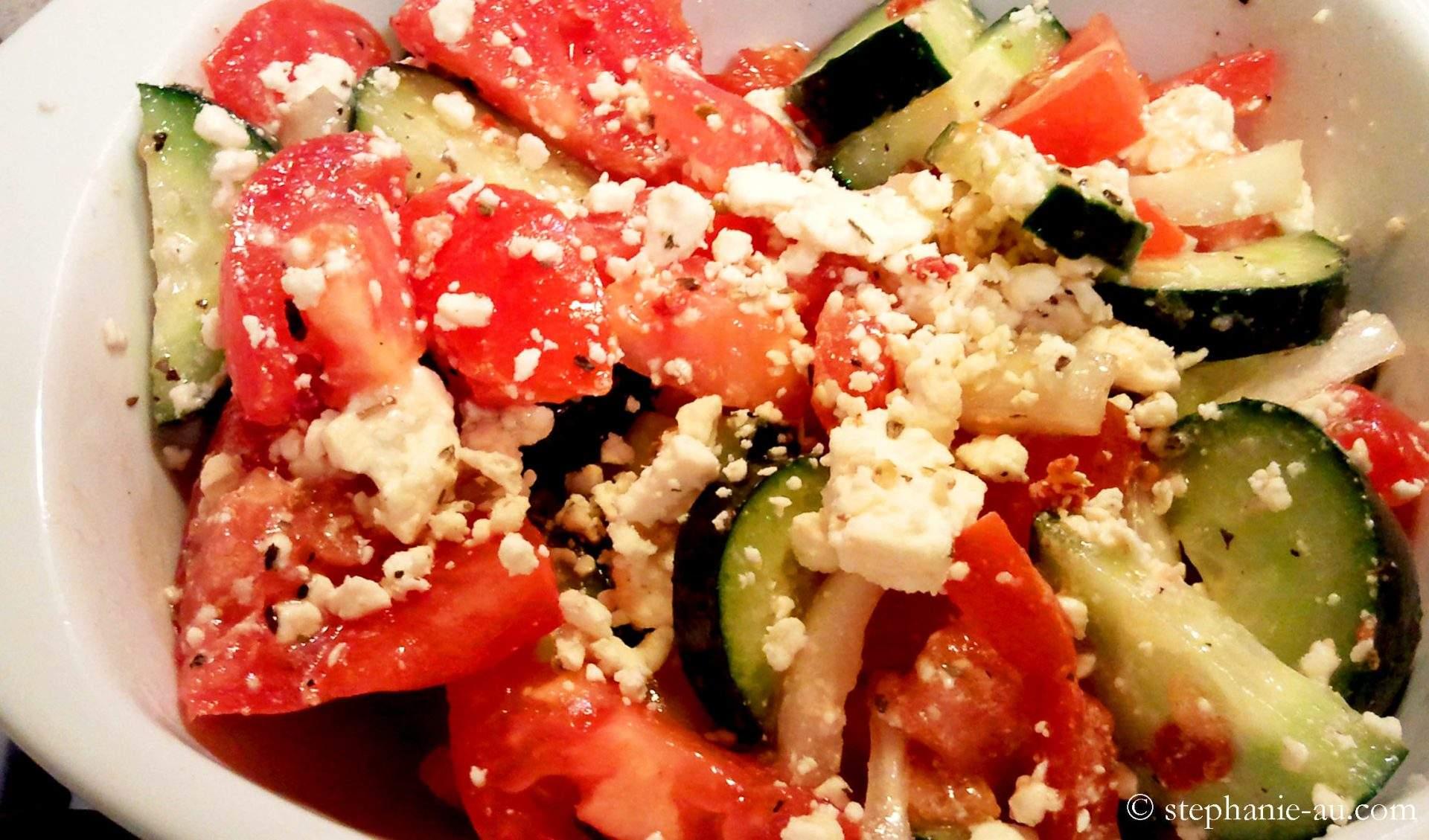 Ensalada Griega | La vida sabe a comida