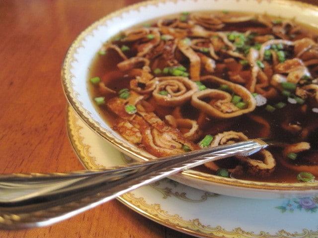 Receta alemana de sopa de panqueques