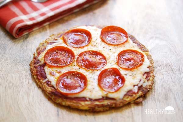 Low Carb Pizza Crust Made from Shirataki Noodles