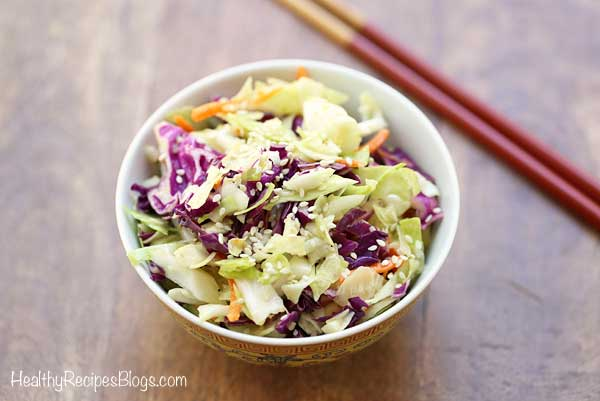 Asian Cabbage Salad in a bowl