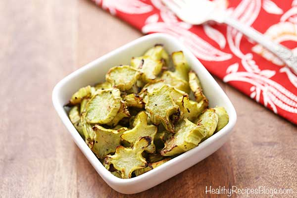 Roasted Broccoli Stalks