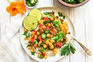 Vegetariano Instant Pot Garbanzo Curry