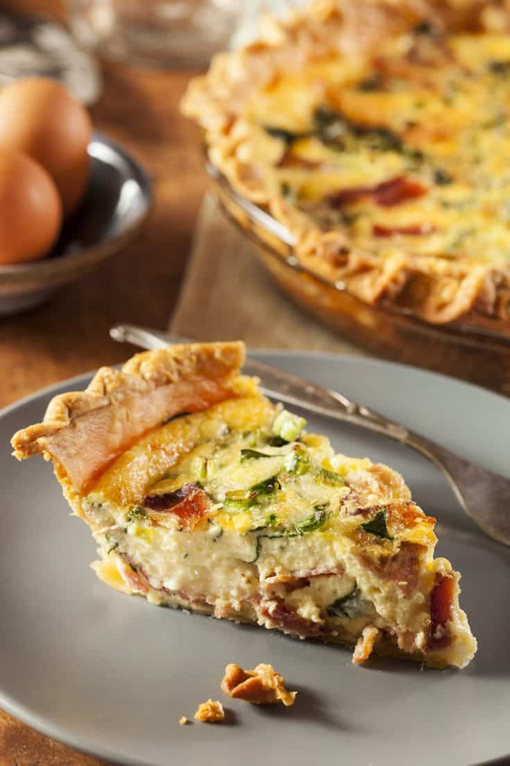Wednesday: Easy Bacon, Cheese and Spinach Quiche