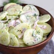 close up of Classic Cucumber Salad