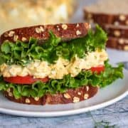 Classic Egg Salad sandwich close up