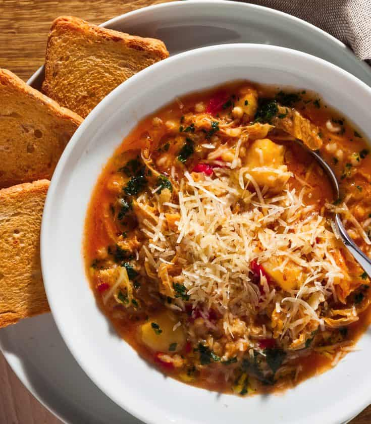 Thursday: Hearty Country-Style Minestrone Soup with Kale