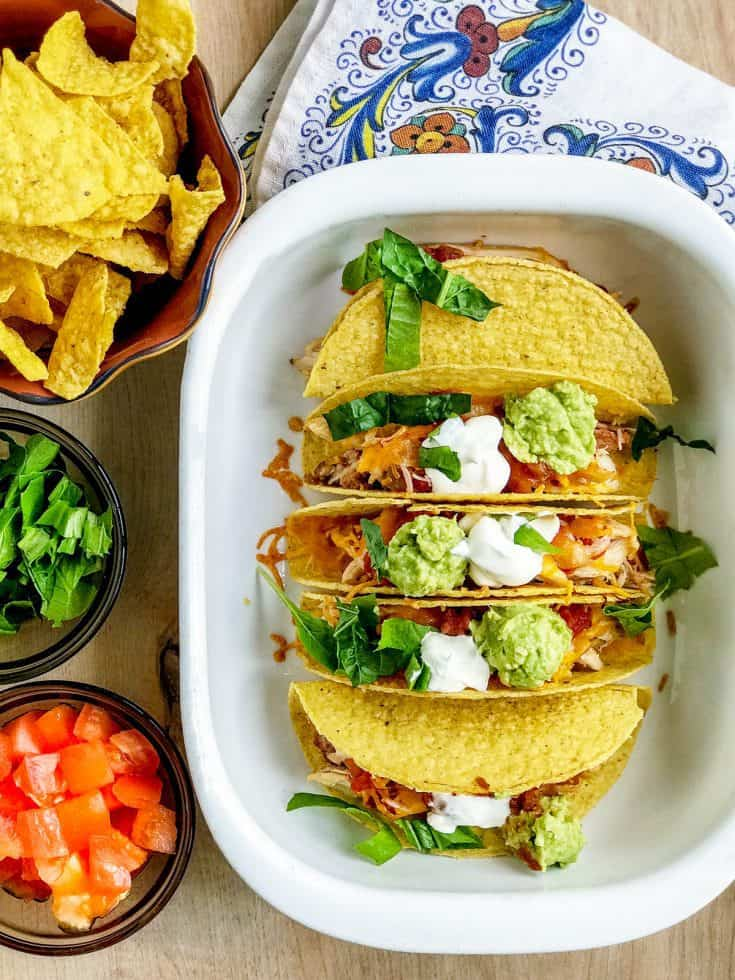 Quick and Easy Oven Baked Chicken Tacos