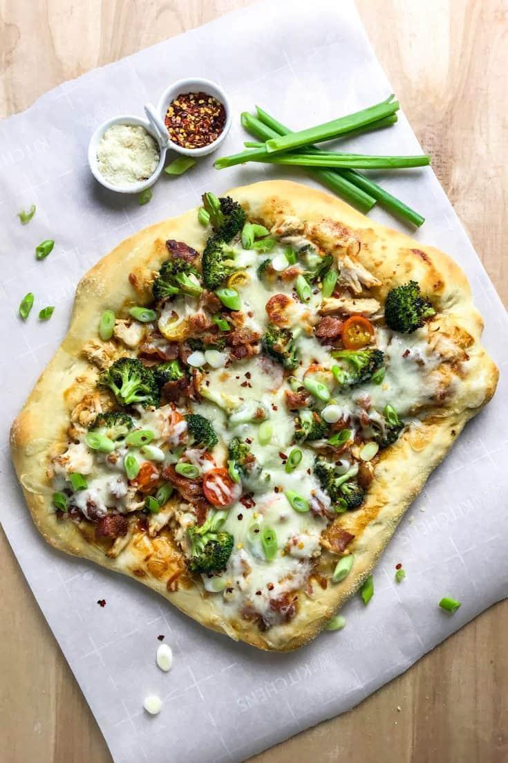 Easy Teriyaki Chicken Pizza