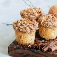 German Cinnamon Apple Streusel Muffins