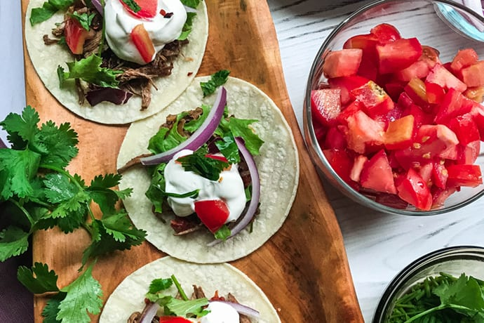 Tuesday: Slow Cooker Mexican Shredded Beef Tacos