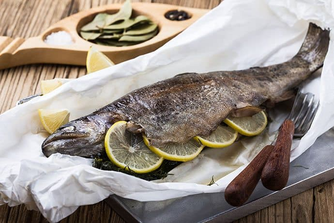 Rainbow Trout in Sage Butter Foil Packets