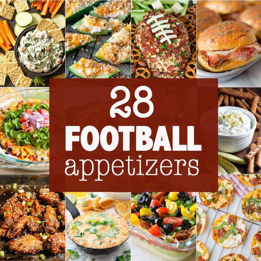 ¡28 de los MEJORES APERITIVOS DE FÚTBOL! ¡Bocadillos para salir de fiesta, divertirse y ver fútbol! Aplicaciones sabrosas y dulces para la temporada de fútbol. ¡EL MEJOR!