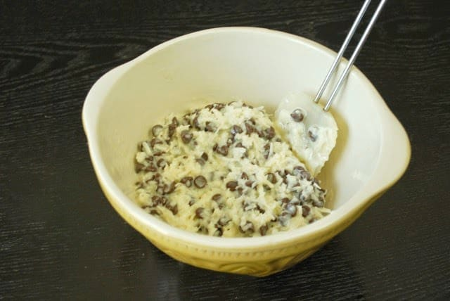 Pastel de coco con chispas de chocolate: