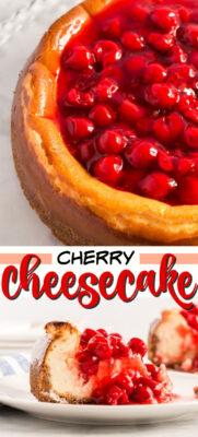 imagen de pin de pastel de queso cereza