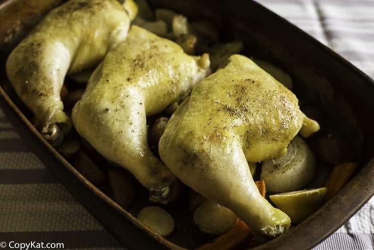 🏅▷ Cuartos de pierna de pollo asado al horno fácil -