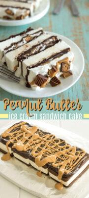 imagen de pin de pastel de sandwich de helado de mantequilla de maní