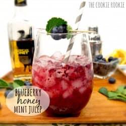 Blueberry Honey Mint Julep, ¡una nueva versión de un clásico favorito! Muy divertido {The Cookie Rookie}