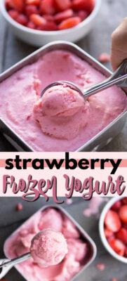 imagen de pin de yogurt helado de fresa