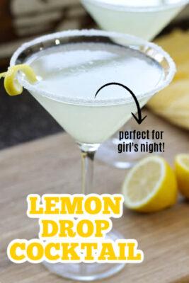 imagen de pin de cóctel de gota de limón