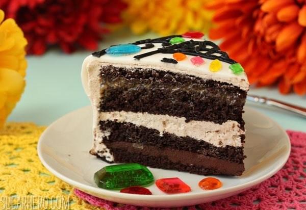 Pastel de calavera para el Día de los Muertos | SugarHero.com