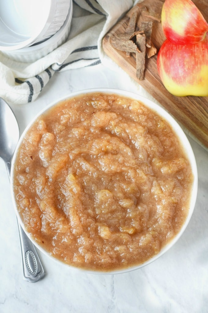 Puré de manzana y canela