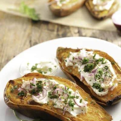 Batatas con crema agria