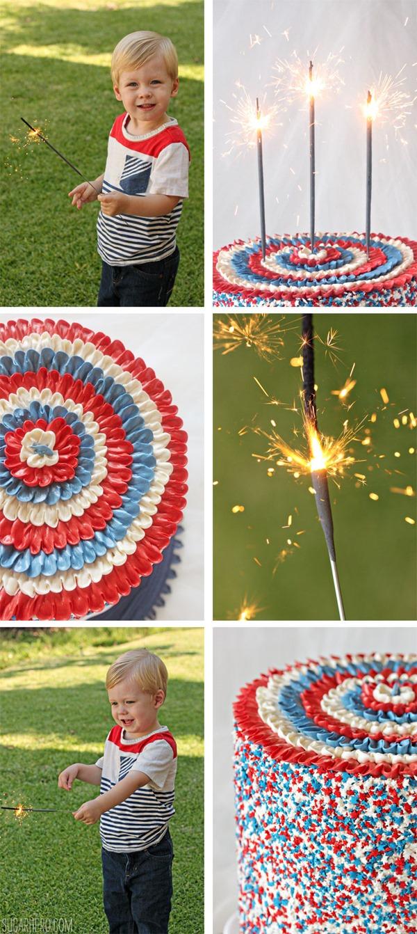 Pastel de capas de la bandera americana | SugarHero.com