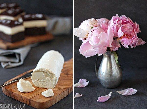 Brownies de queso de cabra | SugarHero.com