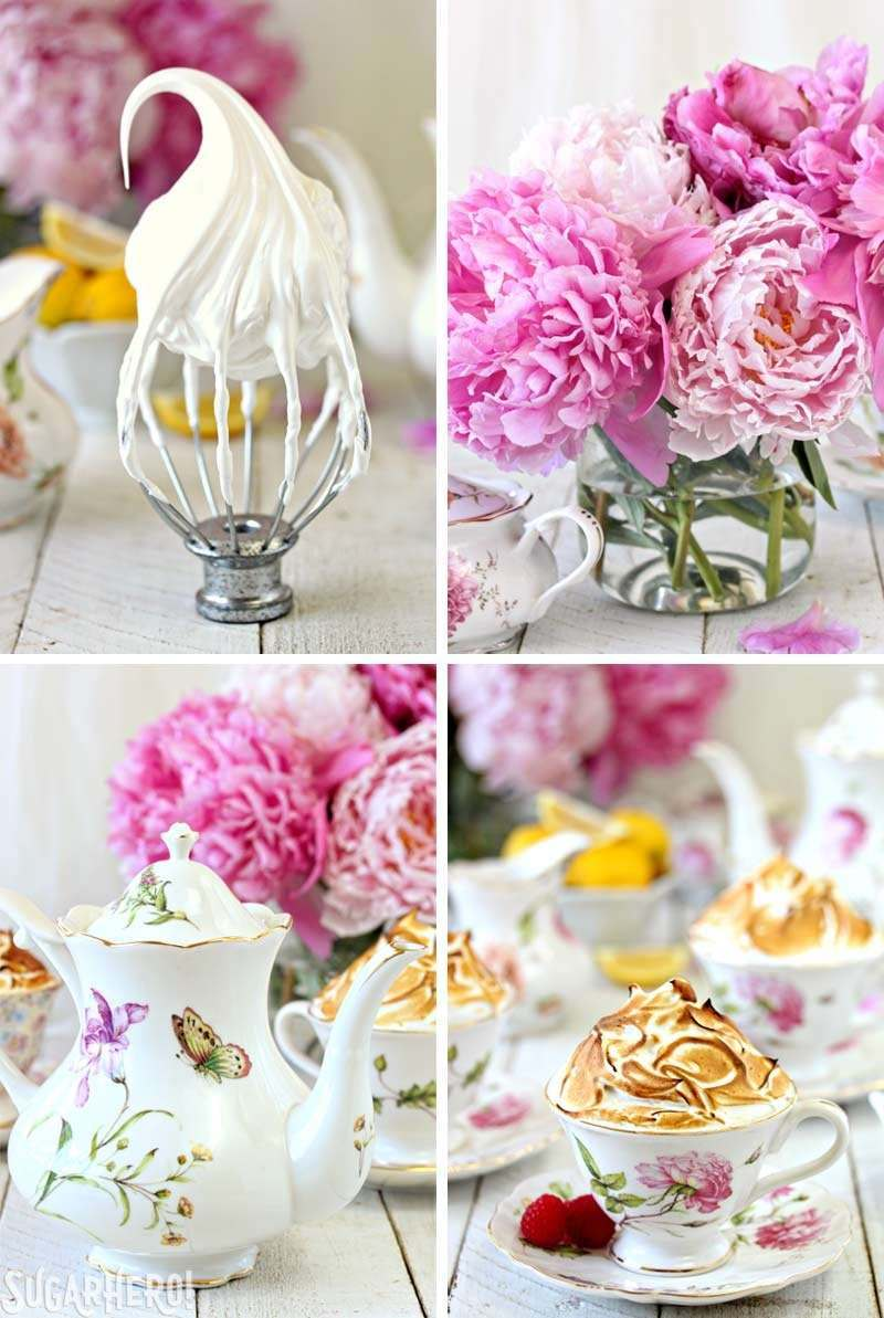 Tartas de té y merengue de limón | De SugarHero.com