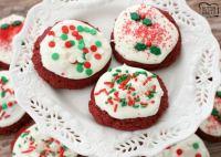 Galletas fáciles de Navidad de terciopelo rojo -