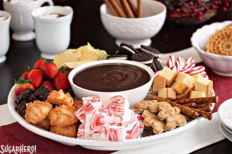 Fondue de chocolate doble | De SugarHero.com