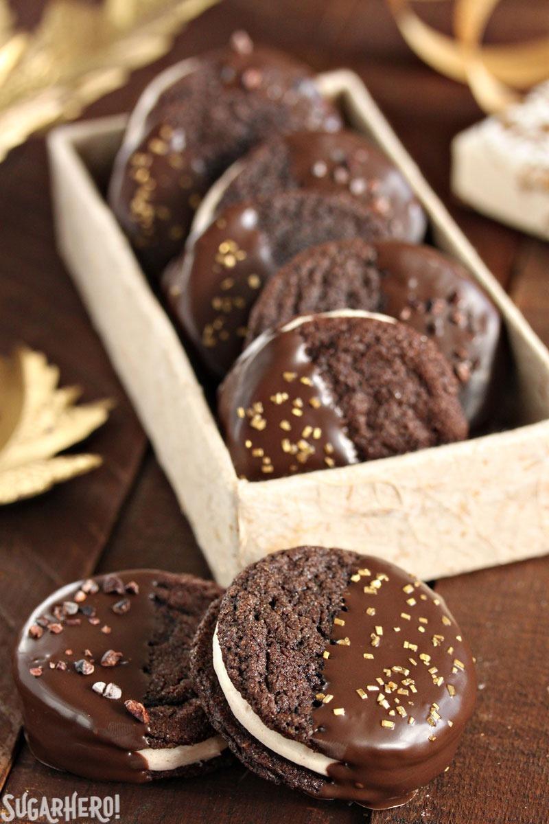 Galletas Sandwich de Chocolate Picante y Caramelo   De SugarHero.com